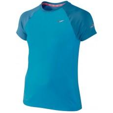 T Shirt Nike Miler Girl Bleu