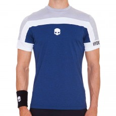 T Shirt Hydrogen Tech Skull Grey Melange / Blue