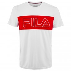 T Shirt Fila Rudi White / Red