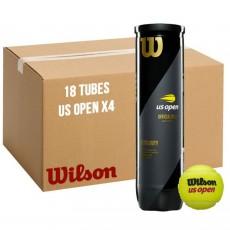 Carton 18 tubes 4 balles Wilson US OPEN