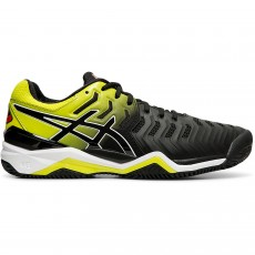 Chaussure Asics Gel Resolution 7 Clay Black Sour Yuzu FW19