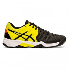 Chaussure Asics Gel Resolution 7 GS Junior Black / Sour Yuzu FW19