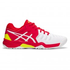 Chaussure Asics Gel Resolution 7 GS Junior White / Laser Pink FW19