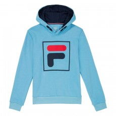 Sweat à capuche Fila Junior Harry Kids Bleu Ciel
