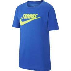 T Shirt Nike Junior Tennis Swoosh Bleu