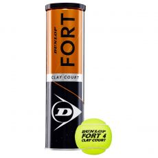 Balles Dunlop Fort Clay Court x4
