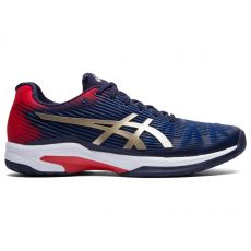 Chaussure Asics Gel Solution Speed FF Peacoat Blue Champagne SS20