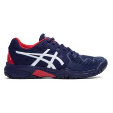 Chaussure Asics Gel Resolution 8 Bleu Peacoat / Rouge GS SS20