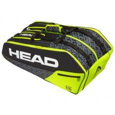 Sac de Tennis Head Core 9R Super Combi Black Yellow