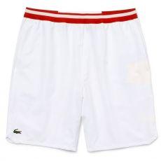 "Short Lacoste 7"" Djokovic Blanc Rouge 2020"