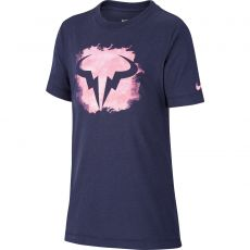 T Shirt Nike Junior Dri-Fit Rafael Marine / Rose Automne 2020