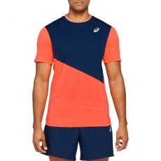 T Shirt Asics Tennis Club Marine / Coral