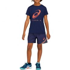 T Shirt Asics Junior Tennis Practice Marine / Corail
