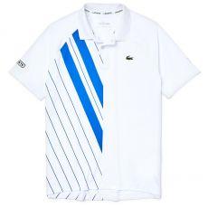 Polo Lacoste SPORT x Novak Djokovic Blanc et Bleu