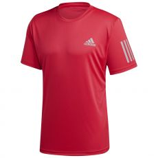T Shirt Adidas 3-Stripes Club Rouge Fluo