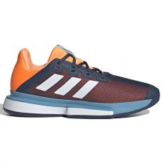 Chaussure Adidas SoleMatch Bounce Marine / Orange Printemps 2021