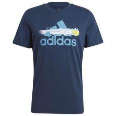 T Shirt Adidas Tennis Graphic Logo Bleu Australian Open 2021