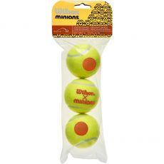 Sachet de 3 balles Wilson Les Minions Stage 2