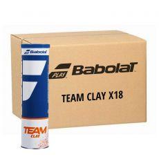 Carton 18 tubes de 4 balles Babolat Team Clay