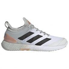 Chaussure Adidas Adizero Ubersonic 4 Femme Blanc / Gris / Saumon