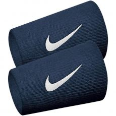 Serre-Poignets Nike Double Largeur Bleu / Blanc x 2
