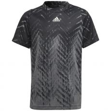T-Shirt Adidas Junior FreeLift Primeblue Gris / Noir US Open 2021