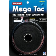 Tourna Mega Tac XL Overgrip Black x 10