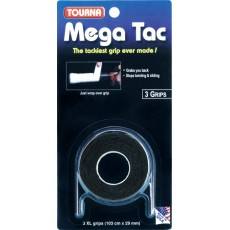 Tourna Mega Tac XL Overgrip Black x 3