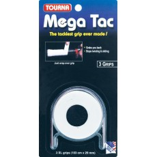 Tourna Mega Tac XL Overgrip White x 3