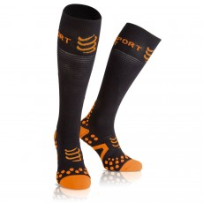 Chaussettes Compressport Racket Full Socks Recovery Noires